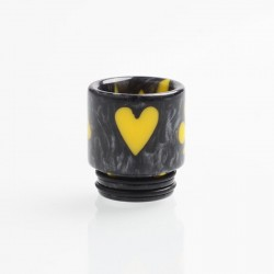 Authentic Reewape AS147 Replacement 810 Drip Tip for 528 Goon / Kennedy / Battle / Mad Dog RDA - Gray + Yellow, Resin, 18mm