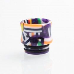 Authentic Reewape AS172 Replacement 810 Drip Tip for SMOK TFV8 / TFV12 Tank / Kennedy - Purple + Multiple Color, Resin, 15.5mm