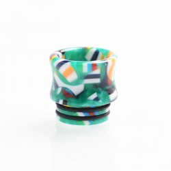 Authentic Reewape AS172 Replacement 810 Drip Tip for SMOK TFV8 / TFV12 Tank / Kennedy - Green + Multiple Color, Resin, 15.5mm