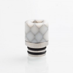 Authentic Reewape AS103S 510 Drip Tip for RDA / RTA / RDTA / Sub-Ohm Tank Vape Atomizer - White, Stainless Steel + Resin, 16mm
