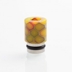 Authentic Reewape AS104S 510 Drip Tip for RDA / RTA / RDTA / Sub-Ohm Tank Vape Atomizer - Orange, Stainless Steel + Resin, 15mm