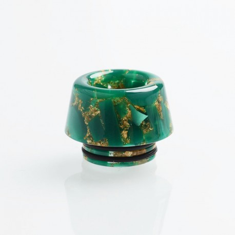 Authentic Reewape AS179 Replacement 810 Drip Tip for SMOK TFV8 / TFV12 Tank / Kennedy - Green Gold, Resin, 13mm