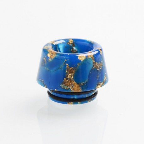 Authentic Reewape AS179 Replacement 810 Drip Tip for SMOK TFV8 / TFV12 Tank / Kennedy - Blue Gold, Resin, 13mm