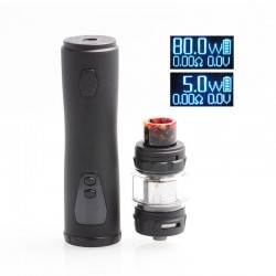 Authentic HorizonTech Falcon 80W VW Mod + Falcon King Sub Ohm Tank Starter Kit - Carbon Black, 0.16/0.38ohm, 5~80W, 1 x 18650