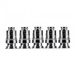 Authentic VOOPOO PnP-R1 Replacement Half DL Coil Head - Silver, 0.8ohm, 12~18W (5 PCS)