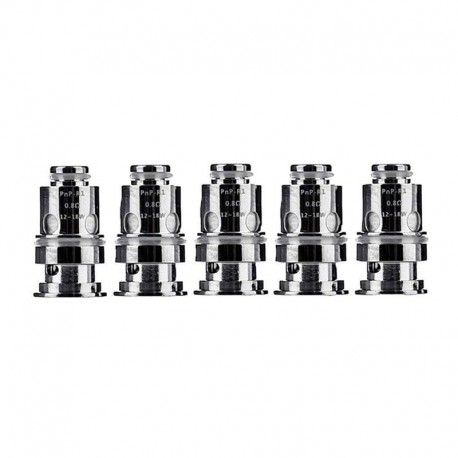 Authentic VOOPOO PnP-R1 MTL Regular Coil for DRAG Baby/FIND Trio/VINCI/VINCI R/VINCI X Kit - Silver, 0.8ohm (12~18W) (5 PCS)