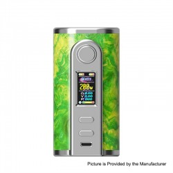 Authentic Ultroner GAEA 200W VW Variable Wattage Box Mod - Green, Stainless Steel + Stabwood, 5~200W, 2 x 18650