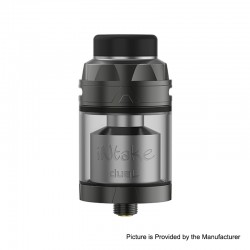 Authentic Augvape Intake Dual RTA Rebuildable Tank Atomizer - Gun Metal, Stainless Steel, 4.2ml / 5.8ml, 26mm Diameter