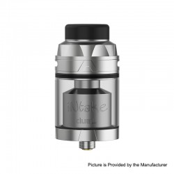 Authentic Augvape Intake Dual RTA Rebuildable Tank Atomizer - Stainless Steel, SS, 4.2ml / 5.8ml, 26mm Diameter