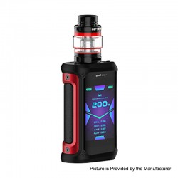 Authentic GeekVape Aegis X 200W TC VW Variable Wattage Mod w/ Cerberus Tank Kit - Red & Black, 5~200W, 5.5ml, 2 x 18650