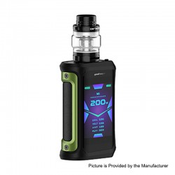 Authentic GeekVape Aegis X 200W TC VW Variable Wattage Mod w/ Cerberus Tank Kit - Green & Black, 5~200W, 5.5ml, 2 x 18650