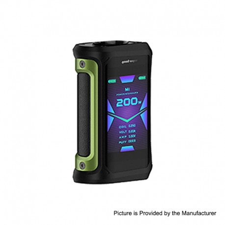 Authentic GeekVape Aegis X 200W TC VW Variable Wattage Mod - Green & Black, 5~200W, 2 x 18650