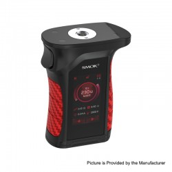 Authentic SMOKTech Mag P3 230W Touch Screen TC VW Variable Wattage Box Mod - Black Red, 1~230W, 2 x 18650 (Standard Edition)
