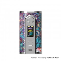 Authentic Ultroner GAEA 200W VW Variable Wattage Box Mod - Purple, Stainless Steel + Stabwood, 5~200W, 2 x 18650
