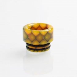 Authentic Reewape AS208 810 Drip Tip for SMOK TFV8 / TFV12 Tank / Kennedy - Yellow, Resin, 12mm