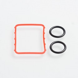 SXK Replacement O-Ring Seals for BB 60W / 70W Box Mod Kit - Red + Black, Silicone (3 PCS)