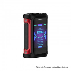 [Ships from HongKong 2] Authentic GeekVape Aegis X 200W TC VW Variable Wattage Mod - Red & Black, 5~200W, 2 x 18650