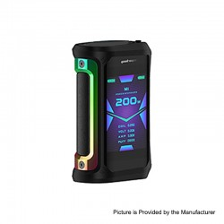 [Ships from HongKong 2] Authentic GeekVape Aegis X 200W TC VW Variable Wattage Mod - Rainbow & Black, 5~200W, 2 x 18650
