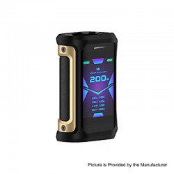 [Ships from HongKong 2] Authentic GeekVape Aegis X 200W TC VW Variable Wattage Mod- Gold Black, 5~200W, 2 x 18650