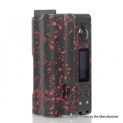 Authentic DOVPO Topside Dual 200W TC VW Variable Wattage Squonk Box Mod - Black + Red, 10ml, 5~200W, 2 x 18650