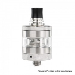 Authentic Steam Crave Glaz Mini MTL RTA Rebuildable Tank Atomizer - Silver, Stainless Steel, 23mm Diameter