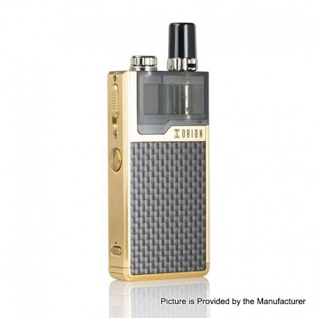Authentic Lost Vape Orion Plus DNA 22W 950mAh VW Pod System Starter Kit - Gold-Textured, 0.25 / 0.5ohm, 2ml