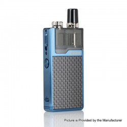 Authentic Lost Vape Orion Plus DNA 22W 950mAh VW Pod System Starter Kit - Blue-Textured, 0.25 / 0.5ohm, 2ml