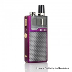 Authentic Lost Vape Orion Plus DNA 22W 950mAh VW Pod System Starter Kit - Purple-Textured, 0.25 / 0.5ohm, 2ml