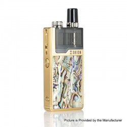 Authentic Lost Vape Orion Plus DNA 22W 950mAh VW Pod System Starter Kit - Gold-Gold Abalone, 0.25 / 0.5ohm, 2ml