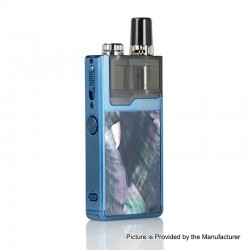 Authentic Lost Vape Orion Plus DNA 22W 950mAh VW Pod System Starter Kit - Blue-Ocean Scallop, 0.25 / 0.5ohm, 2ml