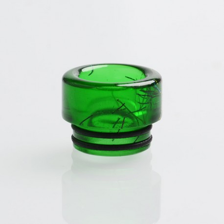 Authentic Reewape AS198 810 Drip Tip for SMOK TFV8 / TFV12 Tank / Kennedy - Green, Resin, 12mm