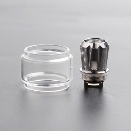 Authentic HorizonTech Falcon King Replacement Bubble Glass Tank Tube + M1+ 0.16ohm Single Mesh Coil Head - Transparent, 6ml