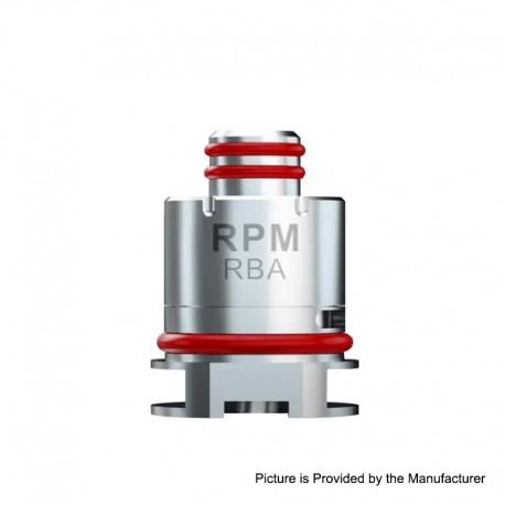 Authentic SMOKTech SMOK RPM40 Pod Kit Replacement RBA Coil Head - Silver, 0.6ohm
