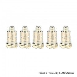 Authentic Nevoks Lusty Pod System Replacement Mesh Coil Head - Silver, 0.6ohm (20~25W) (5 PCS)