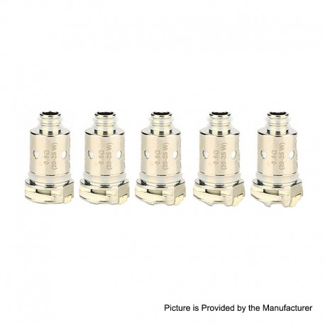 Authentic Nevoks Lusty Pod System Replacement Regular Coil Head - Silver, 0.6ohm (5 PCS)