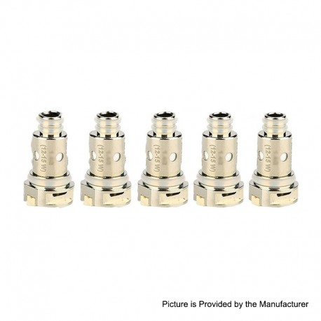 Authentic Nevoks Lusty Pod System Replacement MTL Regular Coil Head - Silver, 1.4ohm (12~15W) (5 PCS)