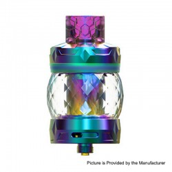 Authentic Aspire Odan Sub Ohm Tank Vape Atomizer - Rainbow, Stainless Steel + Pyrex Glass, 5ml / 7ml, 28mm Diameter