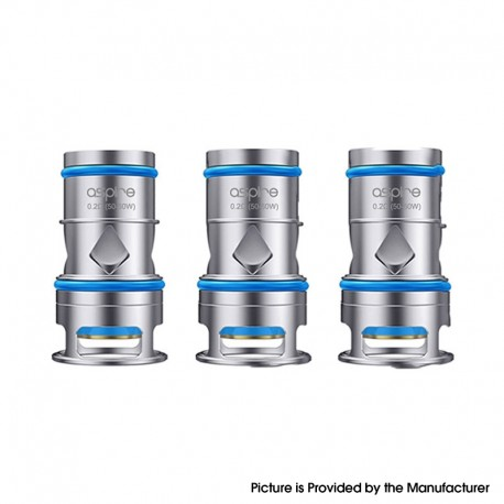 Authentic Aspire Odan Mesh Coil for Aspire Odan / Odan Mini Sub Ohm Tank - Silver, 0.2ohm (50~60W) (3 PCS)