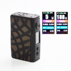 [Ships from HongKong 2] Authentic Vandy Vape Swell 188W VW Variable Wattage Box Mod - Brown Alligator Snapper, 5~188W, 2 x 18650