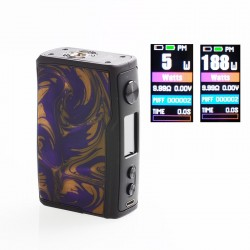 [Ships from HongKong 2] Authentic Vandy Vape Swell 188W VW Variable Wattage Box Mod - Violet, 5~188W, 2 x 18650