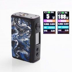 [Ships from HongKong 2] Authentic Vandy Vape Swell 188W VW Variable Wattage Box Mod - Rock Black, 5~188W, 2 x 18650