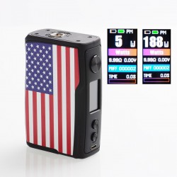 [Ships from HongKong 2] Authentic Vandy Vape Swell 188W VW Variable Wattage Box Mod - US, 5~188W, 2 x 18650