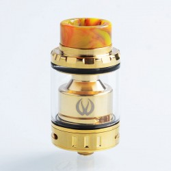[Ships from HongKong 2] Authentic Vandy Vape Kylin Mini RTA Rebuildable Tank Atomizer - Gold, SS, 5ml, 24.4mm Diameter