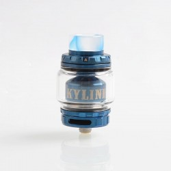 [Ships from HongKong 2] Authentic Vandy Vape Kylin V2 RTA Rebuildable Tank Atomizer - Blue, SS + Pyrex Glass, 5ml, 24mm Diameter
