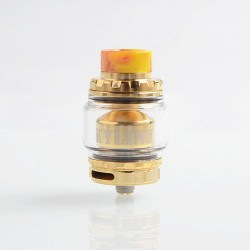 [Ships from HongKong 2] Authentic Vandy Vape Kylin V2 RTA Rebuildable Tank Atomizer - Gold, SS + Pyrex Glass, 5ml, 24mm Diameter