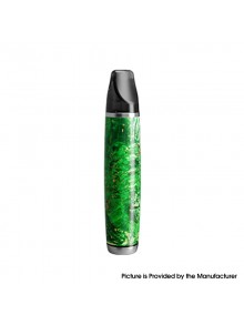 Authentic Ultroner Oner 12W 380mAh Pod System Starter Kit - Green, Stainless Steel+ Stabilized Wood, 5~12W, 1.5ohm, 2ml
