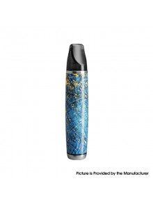 Authentic Ultroner Oner 12W 380mAh Pod System Starter Kit - Blue, Stainless Steel+ Stabilized Wood, 5~12W, 1.5ohm, 2ml