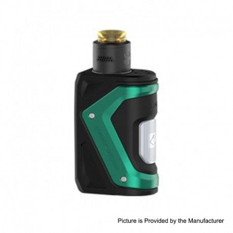 Authentic GeekVape AEGIS 100W TC VW Squonk Box Mod + Tengu RDA Tank Kit w/ BF Pin - Green, 5~100W, 1 x 18650, 9ml