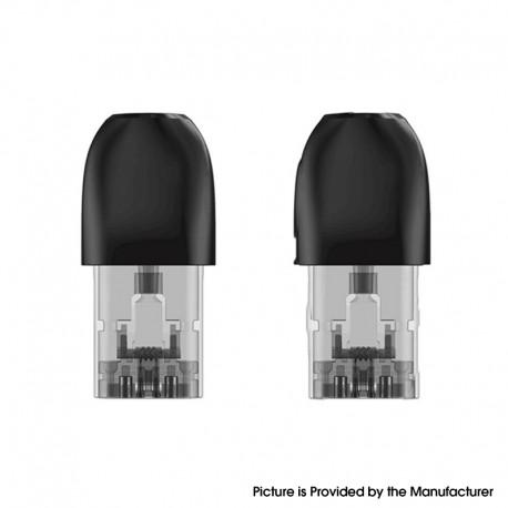 Authentic Sikary Epipa Pod System Replacement Pod Cartridge w/ 1.5ohm Coil - Black + Transparent, 1.7ml (2 PCS)