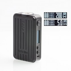 Authentic Vapor Storm Trip 200W Suitcase TC VW Variable Wattage Box Mod - Black, 5~200W, 2 x 18650